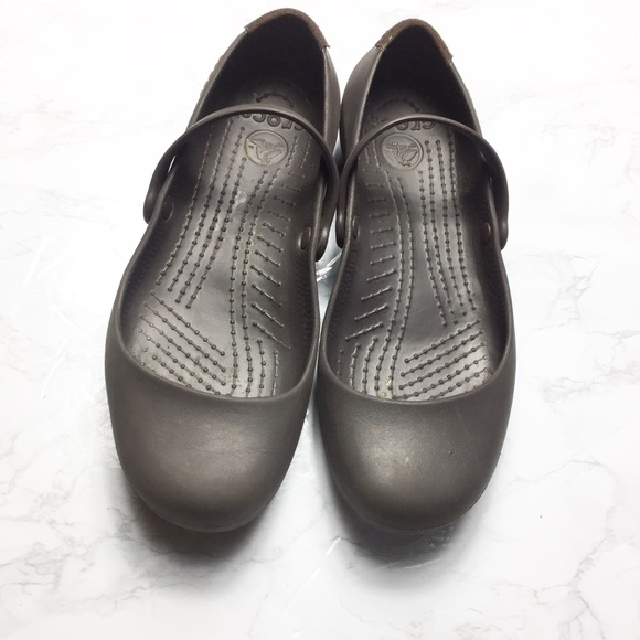 b7d4fba4309 CROCS Shoes - CROCS Brown Women Alice Mary Jane Work Shoes Flats